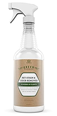 Natural Pet Stain and Odor Remover Eliminator - Advanced Enzyme Cleaner Formula - Remove Old & New Pet Stains & Smells for Dogs & Cats - All-Surface Safe - 32 OZ from TriNova