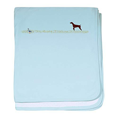 - CafePress Solid Liver GSP On Chukar Baby Blanket, Super Soft Newborn Swaddle