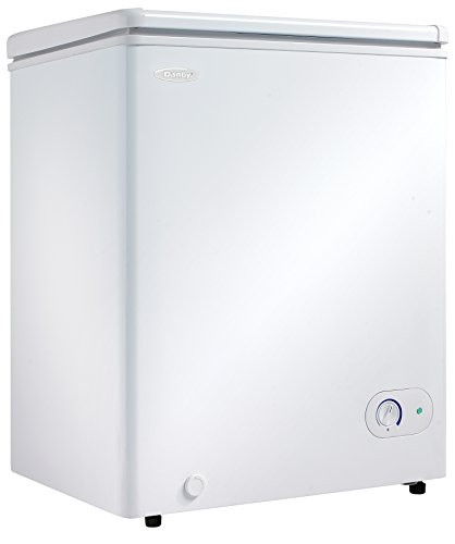Danby DCF038A1WDB1-3 Chest Freezer, 3.8 Cubic Feet, White (Smallest Side By Side Refrigerator With Ice Maker)