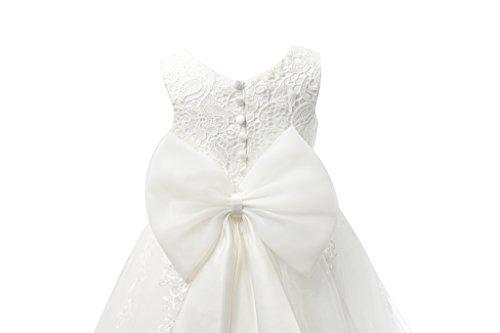 512fd0c2c5a Miama Ivory Lace Tulle Wedding Flower Girl Dress Junior Bridesmaid Dress by  Miama (Image