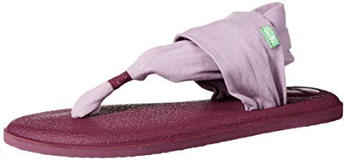 Sanuk Women's Yoga Sling 2 Solid Vintage Flip-Flop Sandal, Sea Fog, 9 ()