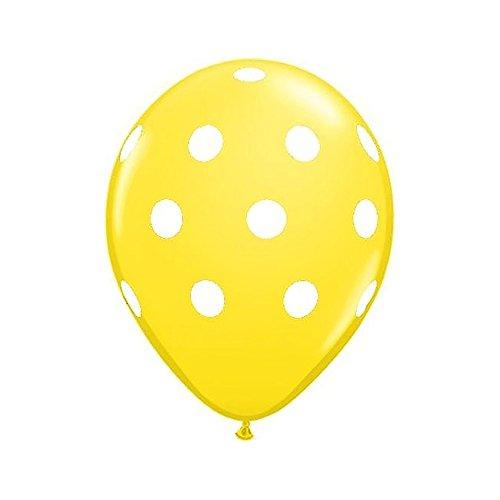 Hydra Costume 12 Inches Party Balloons Latex Thickened Polka dot 100 Pcs - YellowDot