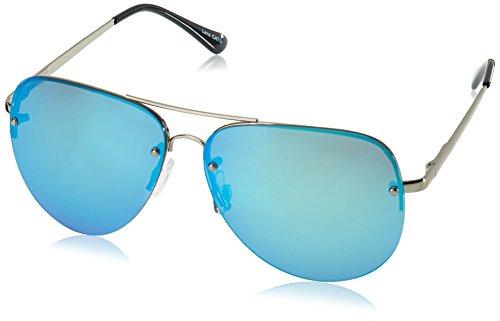 QUAY AUSTRALIA Women's Muse Silver/Blue Mirror - Sunglasses In Made Australia