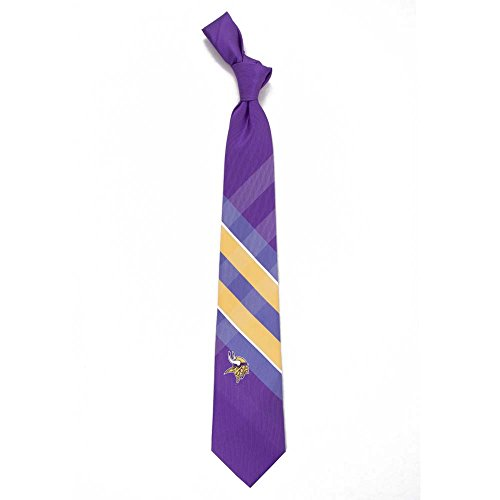 NFL Minnesota Vikings Men's Woven Polyester Grid Necktie, One Size, Multicolor