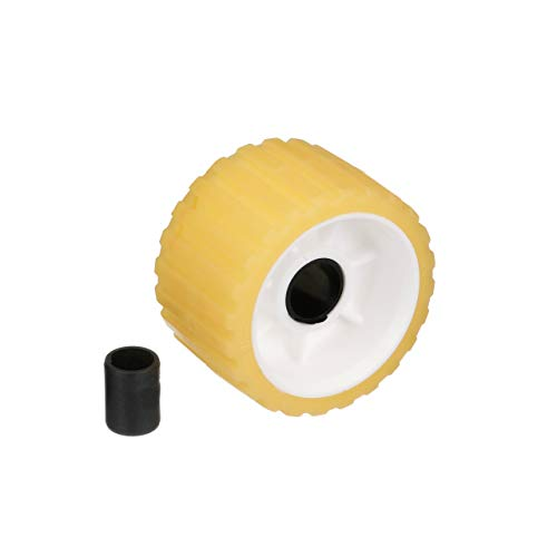 - Seachoice 56540 Non-Marring Boat Trailer Ribbed Rubber Roller, Yellow, 5-Inch x 3-Inch