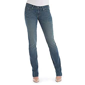 Signature by Levi Strauss & Co Women's Straight Jeans, Meadow, 10 Short