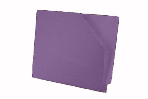 (Colored Standard Duty Folder, Reinforced Full End Tab, No Fasteners, Slant Pocket, Lavender (Box of 100))