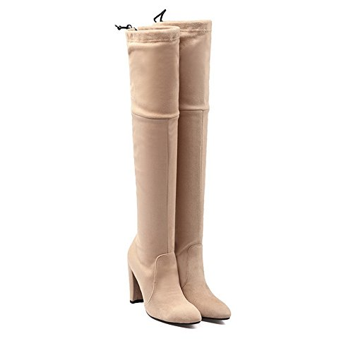 Wollstiefel Pull BalaMasa Damen Comfort Stiefel Apricot On ZxaHx7