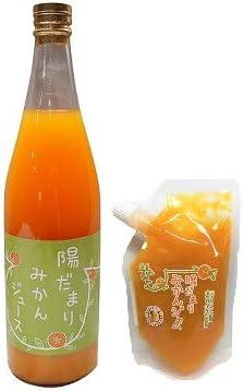 陽だまりファーム 三ヶ日青島みかんジュース ストレート 100% 720ml 1本 + 陽だまりファーム 三ヶ日みかん ジャム 無添加 180g ペクチンなし 甜菜糖使用 スタンドパック