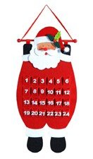 Decorative Santa Advent Calender Hanging Christmas Decoration