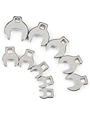 TEKTON 2575 3/8-Inch Drive Crowfoot Wrench Set, Inch, 3/8-Inch - 1-Inch, 10-Piece