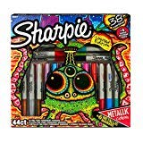 Limited Edition Sharpie Permanent Markers 44ct - Multicolor with +6 Metaliic Colors and +6 Bonus Coloring Pages
