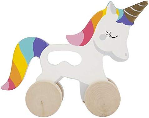 SunnyLIFE Juguete para niños pequeños Push N Pull Unicornio ...