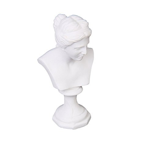 Dollhouse Resin - TOOGOO(R)Dollhouse Miniature Resin Statue Venus Bust Sculpture White