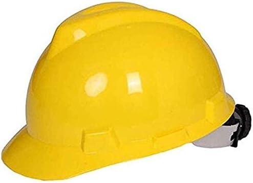 Color : White AQMAO Engineering cap High-strength Helmet Construction Site ABS Thickening Helmet Construction Construction Engineering Power Leadership Helmet Industrial safety helmet