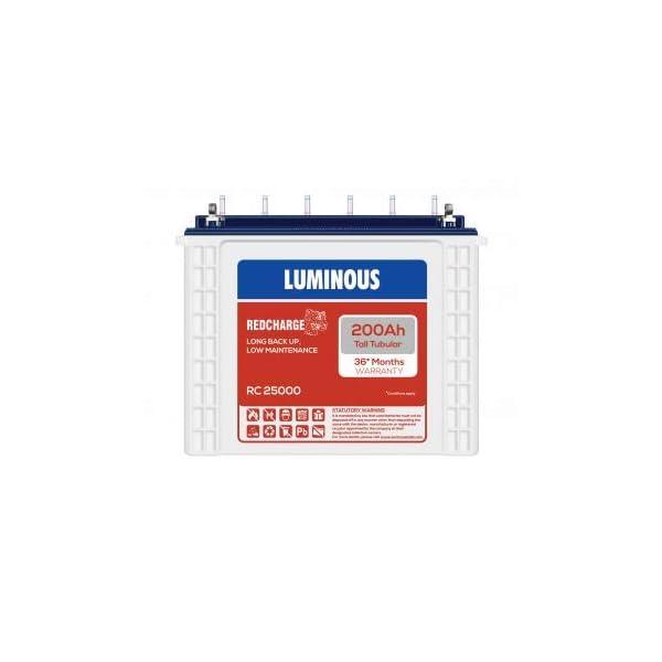 Luminous RC25000 200AH Tall Tubular Battery 36 (18 F+ 18 P) 2021 June RC25000 200AH Tall Tubular Battery 36 It is durable Scores high in term of functionality