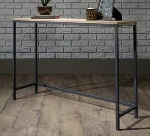 Genial Narrow Console Table Charter Oak Metal Frame Skinny Is Perfect For Dressing  Up Any Wall In