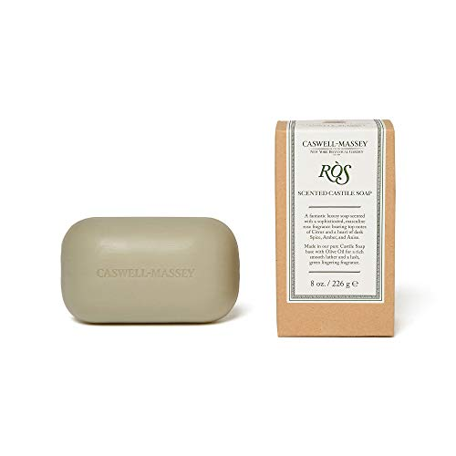 Caswell-Massey ROS Oversized Saddle Castile Soap Bar - NY Botanical Garden Exclusive - Natural Bath Soap With An Amber, Citrus, and Spice Fragrance - 8 Oz