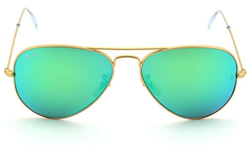 19 Gold 112 Mirror Matte Sunglasses Ray Large Green Unisex ban crystal Rb3025 Frame Metal Aviator Lens ARxAwz6ZYq