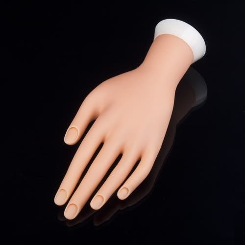Nail Art model Fake Hand for Training and Display painting practice tool 8761234972991