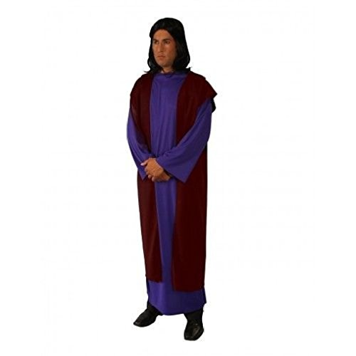 [OvedcRay Adult Biblical Roman Greek God Toga Costume Gown Robe Tunic Shepard Joseph] (Captain Caveman Costume)