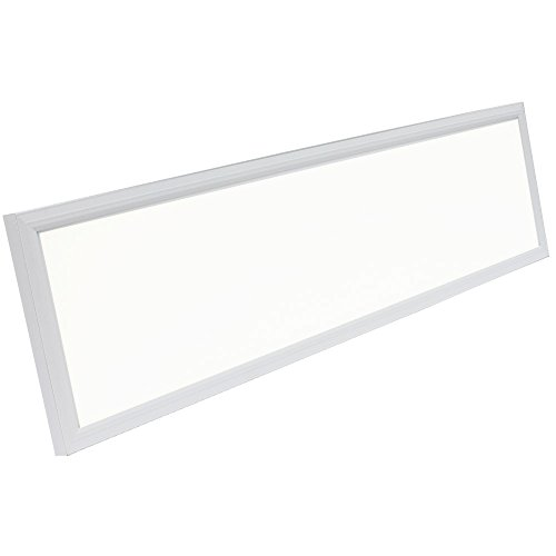 Rectangle LED Panel Recessed in Ceiling Tile Light or Ceiling or Thin Flush Mount Lighting in Laundry Garage Workshop Office | DLC Certified Bright Downlight (12