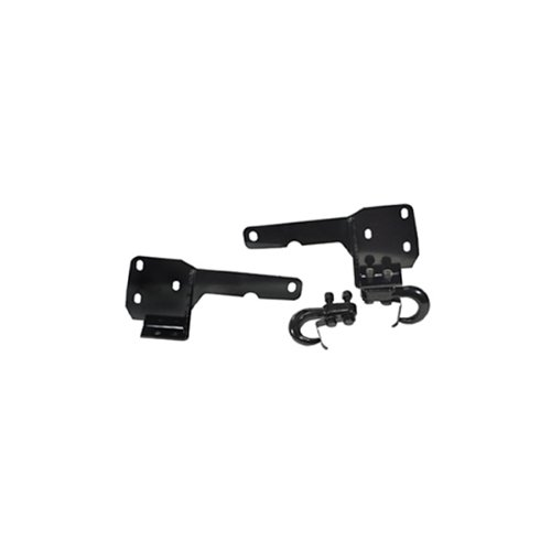 Rugged Ridge 11236.05 Black Front Tow Hook - Pair (Hook Ridge Tow Rugged)