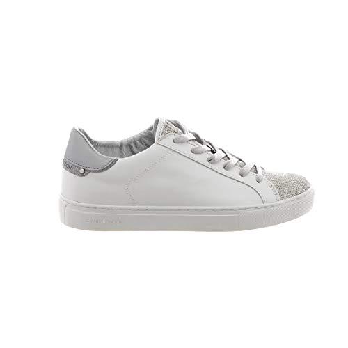 in donna London 25160pp110 bianca Sneakers Crime pelle da 7YxWwId