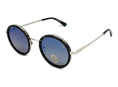 Etnia Barcelona Miramar BKTQ (Silver - Black stripe with Brown Gradient polarised with Mirror effect - Etnies Sunglasses