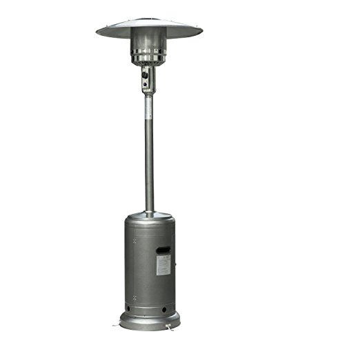 Outsunny Hammer Tone Outdoor Patio Propane Gas Heater, 87-Inch