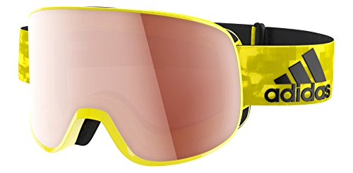 Lst Goggle (Adidas ad81 6052 Bright Shiny Yellow LST Active Progressor C Visor Goggles Lens)