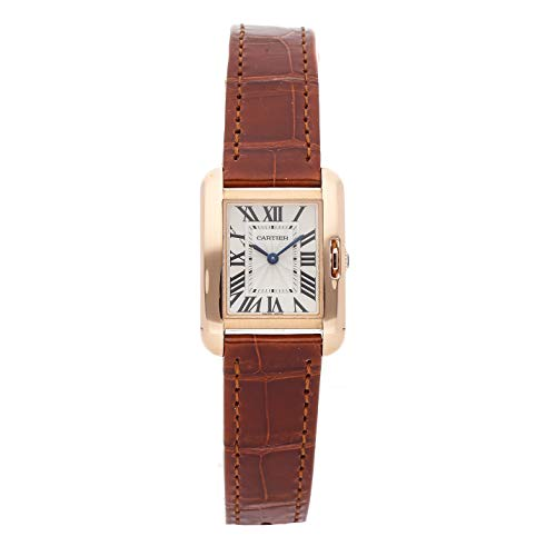 Cartier Tank Anglaise Quartz (Battery) Silver Dial Womens Watch W5310027 (Certified Pre-Owned)