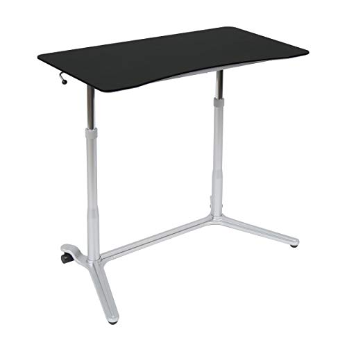 Calico Designs 51230 Sierra Height Adjustable Desk, Silver/Black ()