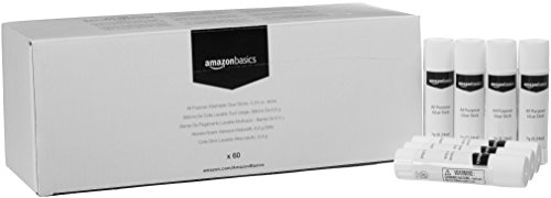 AmazonBasics All Purpose Washable School Glue Sticks, 0.24-oz stick, 60-Pack