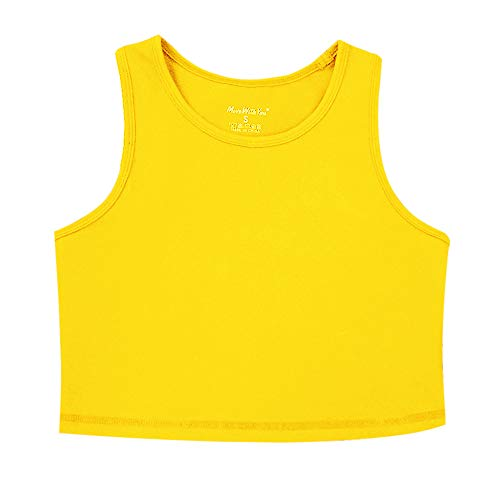 - Move With You Womens Crop Tank Tops Workout Running High Neck Sports Bra with Built-in Bra