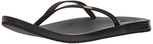 Reef black Cushion Para Chanclas Bla Bounce Negro Mujer Slim PCqPSw1