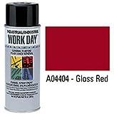 Krylon Industrial Work Day Enamel Paint Gloss Red - Lot of 12