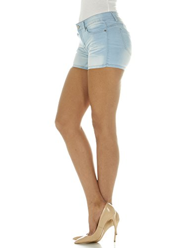 Cover Girl Jeans Women's Denim Shorts Mid Rise Blue Washes with Stretch