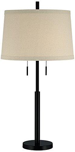 Possini Euro Design Matte Dark Bronze Stick Table Lamp (Bronze Column Lamp Table)