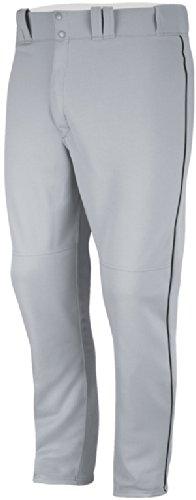 Majestic Boys' 894Y Zipper Front Baseball Pant (Grey/Dark Green, ()