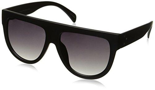 zeroUV Large Oversize Wide Temple Flat Top Aviator Sunglasses, Matte Black / Lavender, 57 - Sunglasses Mens 2017 Top