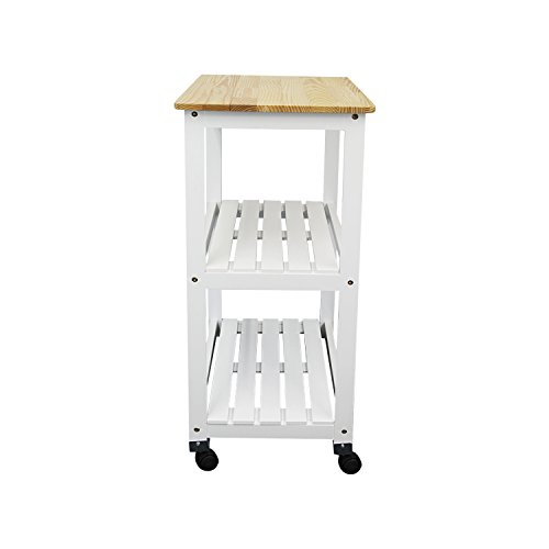 Houseables Microwave Cart Kitchen Stands And Carts White
