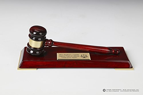 Personalized Engraved Gavel Gift Set on Presenation Stand with Engraved Plate on Front, Custom Engraved Gavel Band, Lawyer Gift, Judge Gift, Mayor Gift, City Council Gift