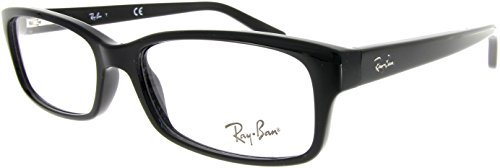 Ray-Ban Unisex RX5187 Eyeglasses Shiny Black 52mm from Ray-Ban