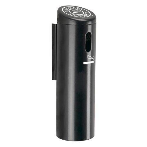Waste Receptacle Sand Ashtray - Wall-Mounted Ashtray Cigarette Receptacle Color: Black