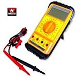 Neiko Handheld Pocket AC/DC Digital Multimeter Tester with Stand, Extra Large LCD Screen Display
