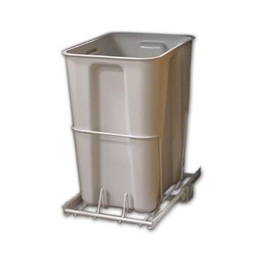 ClosetMaid 3103 Pull Out Trash Bin, 24-Quart, White