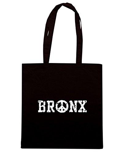 T-Shirtshock - Bolsa para la compra TSTEM0147 bronx peace Negro