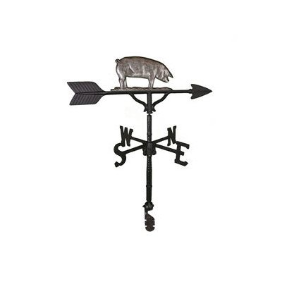 Montague Metal Products 32-Inch Weathervane with Swedish Iron Pig Ornament