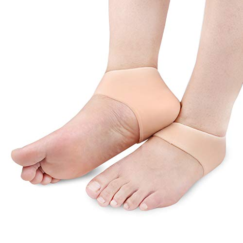 Wellbeing Plantar Fasciitis Socks with Arch Support for Cracked Heel/Foot Pain Relief,Flesh